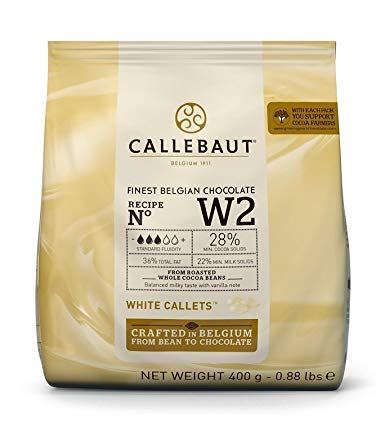 Callebaut N° W2 (28%) - Chocolat Blanc Belge - Finest Belgian White Chocolate (Callets) 400g