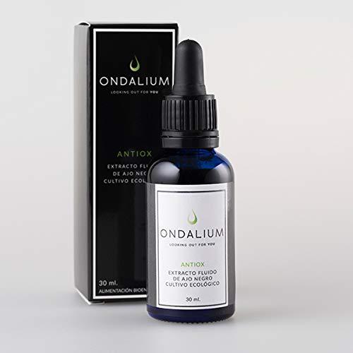 Ondalium ANTIOX | Extracto fluido antioxidante con AJO NEGRO ecológico (1 mes) - Producto ANTIOXIDANTE especialmente indicado en la mediana edad y personas con problema de MEMORIA