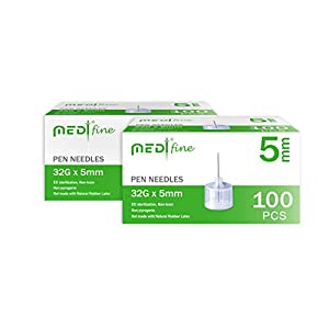 buy  MedtFine Pen Needles 32G 5mm(3/16″) 200 ... Diabetes Care