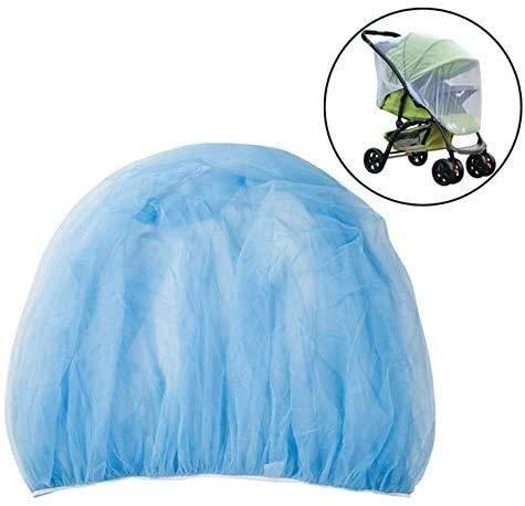Kinderwagen Kinderwagen Klamboe, draagbare reizen Tent Safe Zuigelingen Protection Mesh Kinderwagen toebehoren Winkelwagen Klamboe, White dmqpp (Color : Blue)