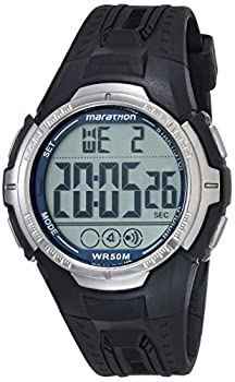 Marathon by Timex Men s T5K359 Digital Full-Size Black/Blue Resin Strap Watch