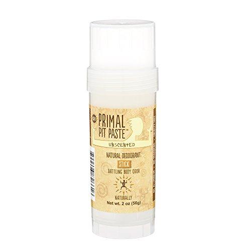 Primal Pit Paste Stick Natural Deodorant Unscented 2 Ounces