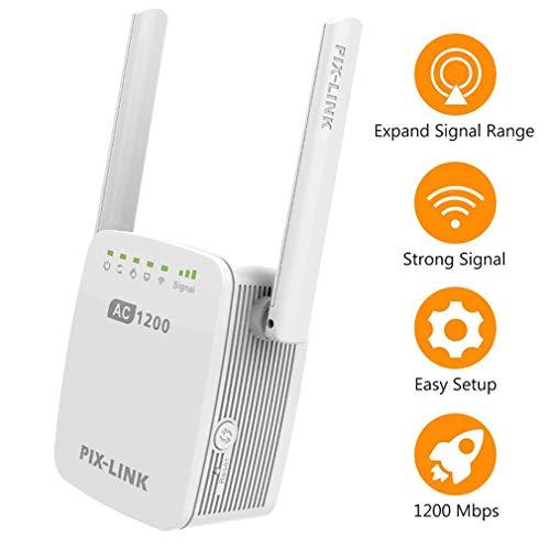 DRAGZJQ Repetidor de WiFI,amplificador de WLAN de doble banda 1200M,amplificador de señal La seguridad