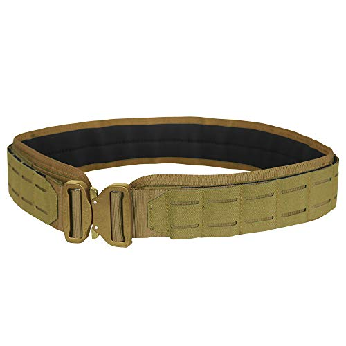 "Condor Outdoor LCS Cobra Tactical Belt 121175 (Coyote Brown, Medium/Large: 40.5' - 44.5"" Long, Waist 34""-36"")"