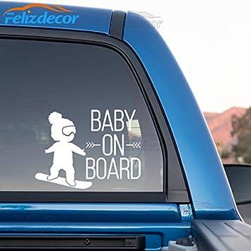 Baby On Board Boy Exterior Bumper Window Sticker Decal Graphic Vinyl Label V2