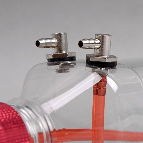 HomeDecTime 2 Stück Kunststoff Heizöltank 360ML Mit Metallkappe Für Gasflugzeug Flugzeuge RC