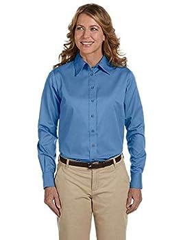Harriton M500W Ladies L-Sleeve Shirt - Nautical Blue - 3XL