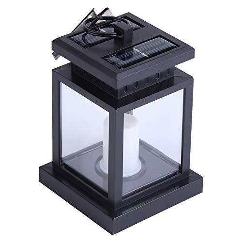Weikeya Linterna de Vela Vintage, 8,9 x 8.9 x 12.7 cm de plástico 0.06W 4.5H Tiempo de Carga (Negro)