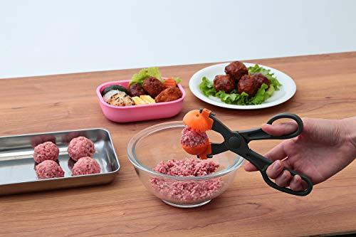 Felio つみれメーカー 3種アタッチメント付き グレー 長さ18.2×幅7.3×奥行1cm お鍋の肉団子や揚げものに F0862