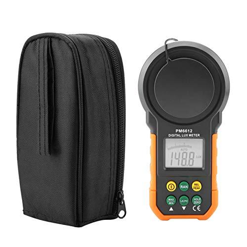 Medidor de luz digital PEAKMETER, luxómetro digital de alta precisión PM6612/PM6612L 200,000Lux(PM6612)