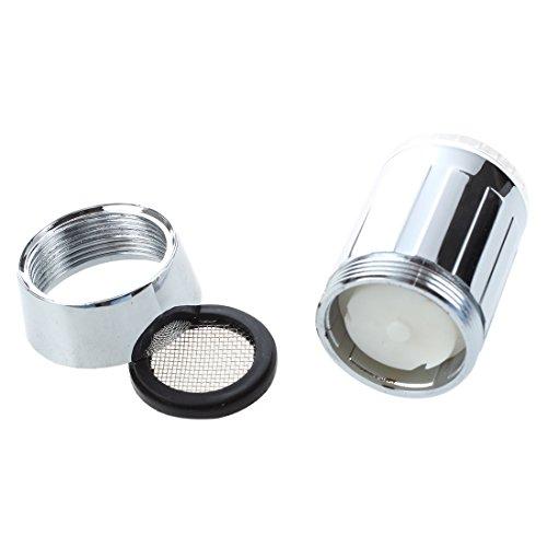SODIAL(R) bunte LED Wasserhahn Leuchtender LED Licht Wasserhahn mit Temperatursensor Farben(Gruen/Rot/Blau),Wasser-Strom-Hahn 3 Farben durch Wasserdruck (bunten LED Wasserhahnfilter) - 5