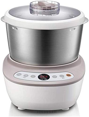 CattleBie Masa Mezclador de Acero Inoxidable Pan Pastel de Fideos Fabricante de aparatos de Cocina 200W 5L eléctrico automático Fermentación amasadora