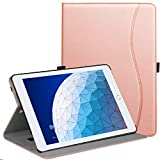 """Ztotop Case for iPad Air 10.5"""" (3rd Gen) 2019/iPad Pro 10.5"""" 2017, Premium Leather Business Slim Multi-Angle Viewing Stand Folio Cover with Auto Wake/Sleep Protective Smart Case, Rose Gold"""