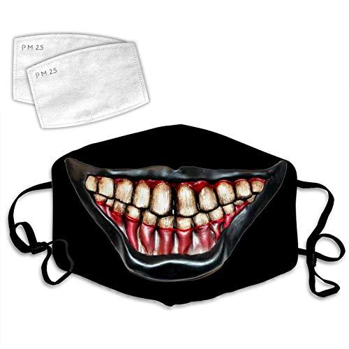 LIUDAINC Scary mouth teeth Outdoor breathing creative facial decoration