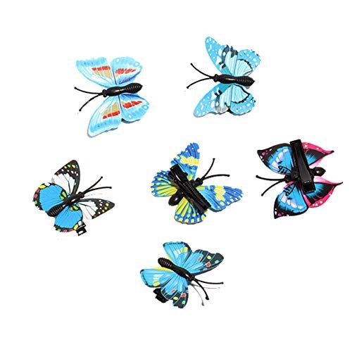 Fablcrew. 5 Stück Schmetterling Haarnadeln Haarclip Coda Pferdehaar Haarspange für die Frauen 4cm Stile J