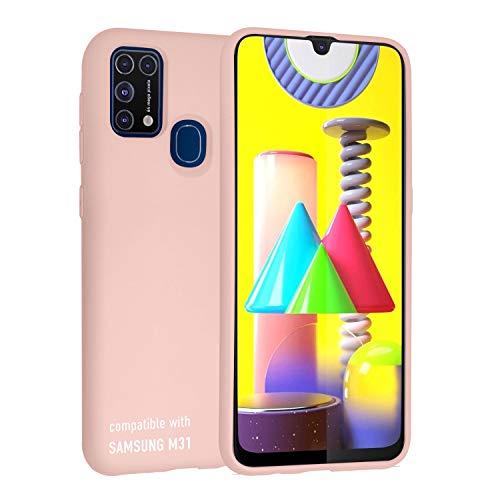 smartect Cover in Silicone per Samsung Galaxy M31 - Aderenza Perfetta - Superficie Morbida Antiscivolo - Linee Interne Morbide - Case Silicone Rosa