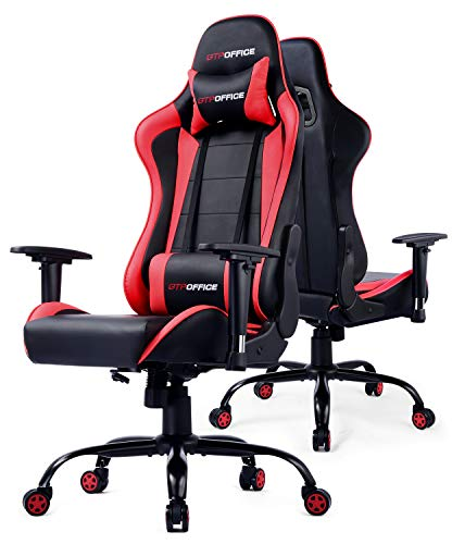Gaming Chair Office Racing Computer Desk Chairs Ergonomic Conference Executive Manager Work High Back Adjustable Swivel Task Chair Tilt E-Sports Chair Red