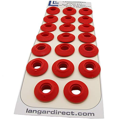 Langard 12mm rosso Snap 'N' Tap occhielli, confezione da pezzi