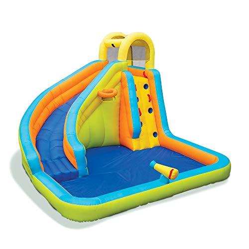 BANZAI Splash 'N Blast 12 x 10.5 x 8 Ft Kids Outdoor Backyard Inflatable Water Slide Park Toy with Slide.