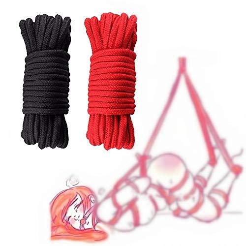Weiches Baumwollseil ist weich und strapazierfähig auf der Haut, multifunktionales Seil, 2 Stück