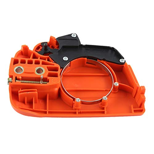 Conjunto de freno de cadena - Cubierta de rueda dentada del embrague Conjunto de freno de cadena Compatible for Husqvarna 350 235 235E 236 240 Motosierra
