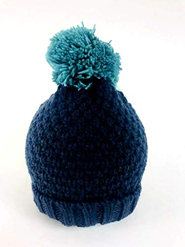 MINI CLUB Autumn/Winter Hat Single Pom Pom Blue/Green – New (18 to 24 Months)