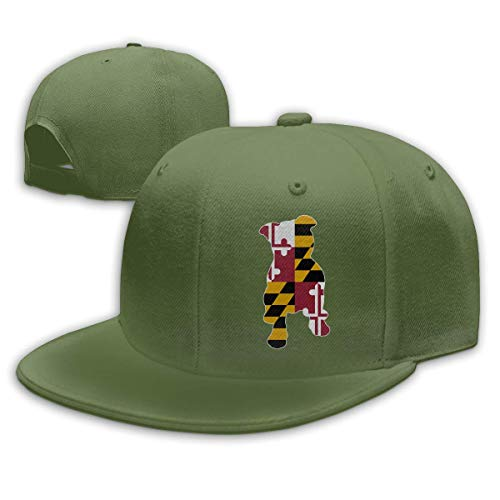 DAIAII Herren Baseball Caps,Hüte, Mützen, Classic Baseball Cap, Maryland Flag in Pitbull Men & Women Adjustable Plain Baseball Cap Trucker Cap