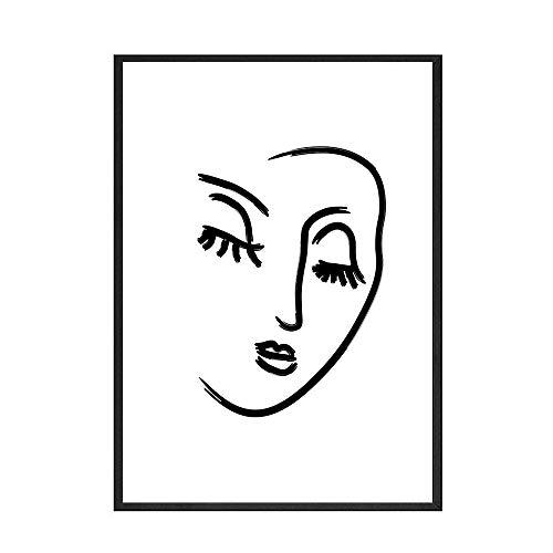 Carteles e impresiones de líneas abstractas de Henry Matisse, pintura de arte de pared de plantas coloridas, pintura de lienzo sin marco familiar A 30x45cm