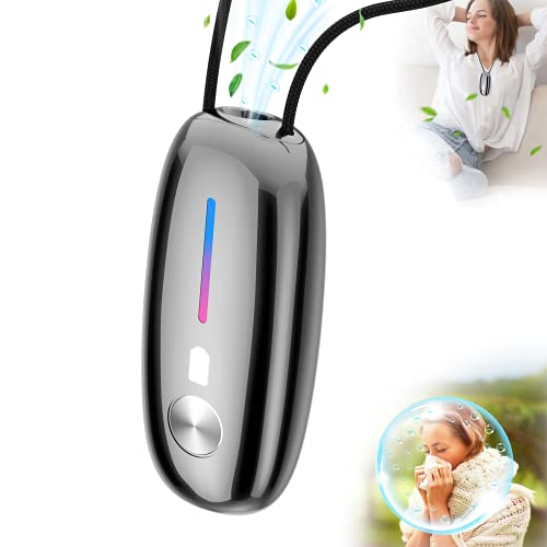 Wearable Air Purifier Necklace,Small Portable Air Purifier,100% No Static Electricity,for Car,Airplane,Office,Bedroom and Travel,Air Ionizer