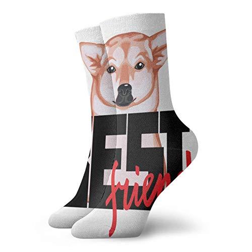 Camiseta de impresión Best Friend With Dog And LetteringCalcetines unisex de moda, novela, individual, suave, deportivos y de ocio