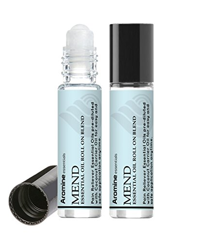 Mend Pain Relief Essential Oil Roll On, Pre-Diluted 10ml...