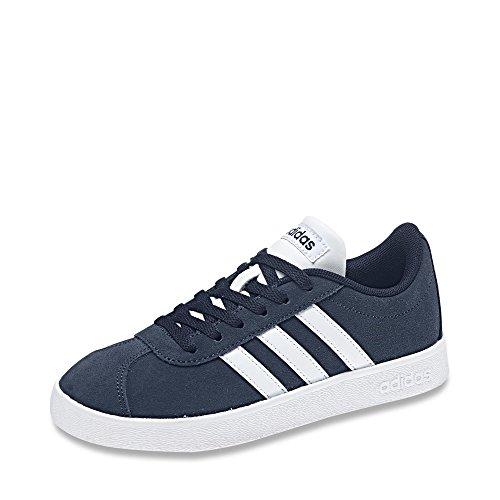 adidas Jungen Unisex-Kinder VL Court 2.0 Fitnessschuhe, Blau Maruni Ftwbla 000, 33 EU