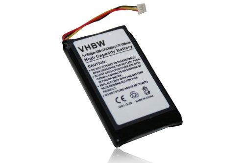 vhbw Akku kompatibel mit Magellan Roadmate 1400, 1412, 1430, 1445, 1470, 1445T, 1475T GPS Navigation Navi (1200mAh, 3,7V, Li-Polymer)