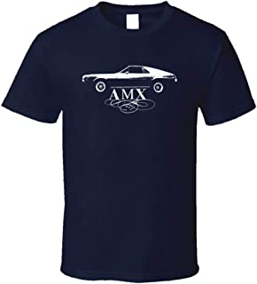 1969 AMX Side View with Model Dark T Shirt