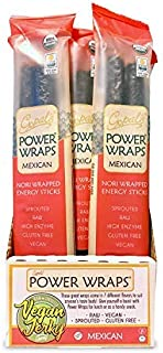 Gopal's Mexican Power Wraps, Raw and Sprouted Nori Wrapped Energy Sticks 1.8 Ounces (Pack of 24) | Keto, Paleo, and Whole 30 Friendly