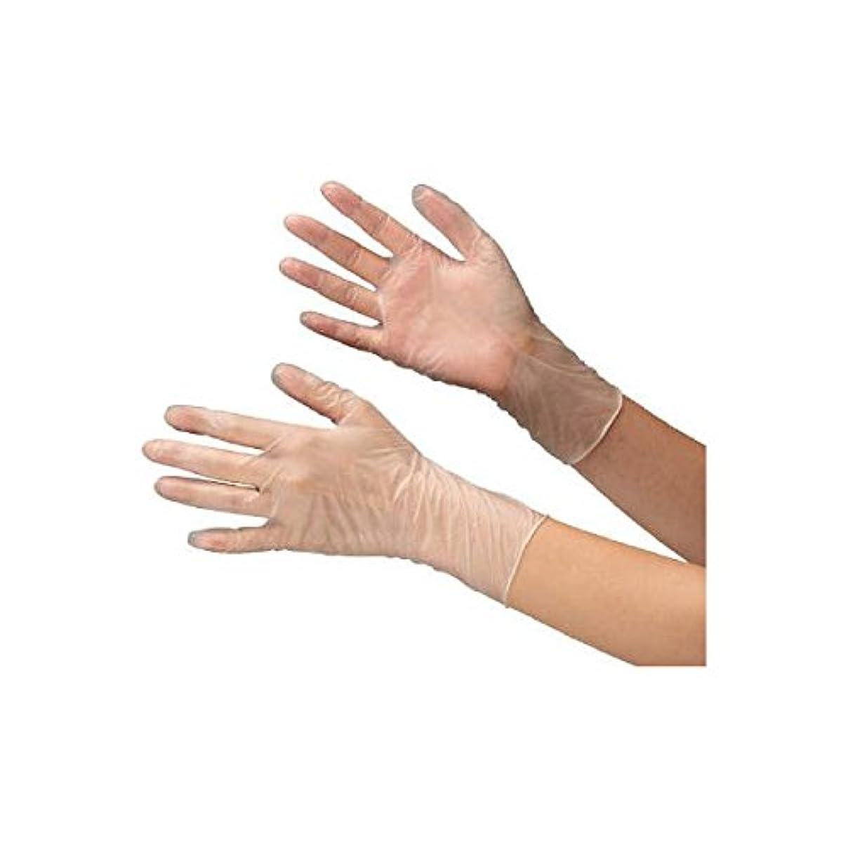 ダース幅正統派ミドリ安全/ミドリ安全 塩化ビニール製 使い捨て手袋 粉なし 100枚入 LL(3889319) VERTE-851-LL [その他]