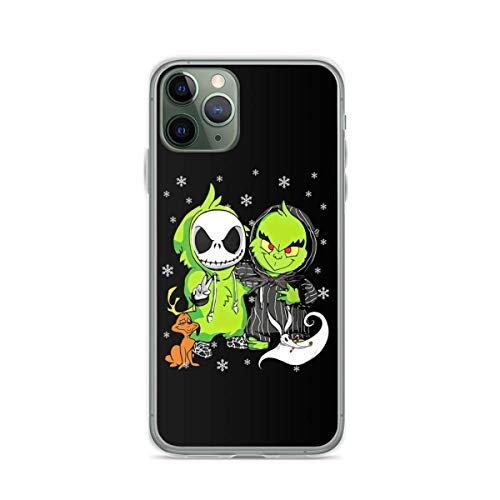 Jack Skellington and Grinch The Nightmare Before Christmas Hard PC with Soft TPU Edges Compatible for iPhone 6/6s 6 Plus/6s Plus 7/8 7 Plus/8 Plus X/XS XR XS Max 11 11 Pro 11 Pro Max
