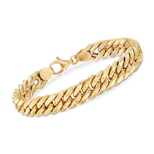 Ross-Simons Italian 18kt Yellow Gold Cuban Link Bracelet. 7 inches
