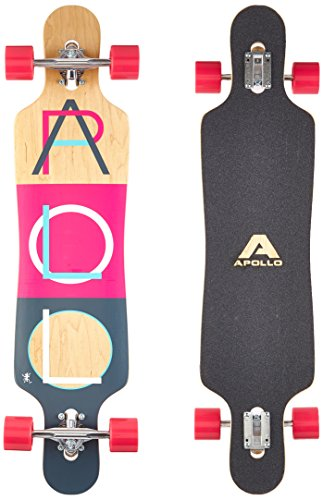 Apollo Longboard Supernova Special Edition Tabla Completa con rodamiento de Bolas High Speed ABEC Incl. Skate T-Tool, Drop Through Freeride Skate Cruiser Boards