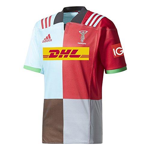 adidas HQ H SS JSY Camiseta, Hombre, Rojo (belroj/azuesc/grisua/Marron), XXXL