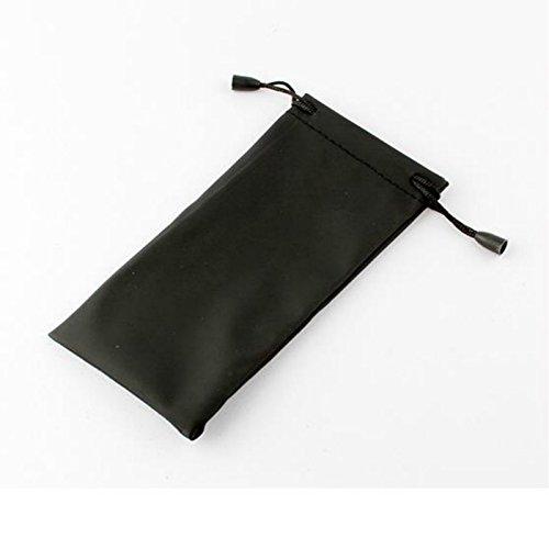 Pack von 5x Schwarz Langlebig und wasserdicht staubdicht Kunststoff Sonnenbrille Tasche weichen Tuch Brillenbeutel Tragetasche, seit