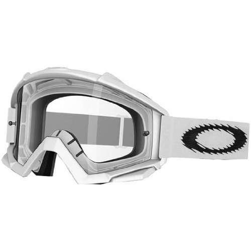 Oakley Proven MX Men's Dirt MX/Off-Road/Dirt Bike Motorcycle Goggles Eyewear - Matte White/Clear/One Size Fits All