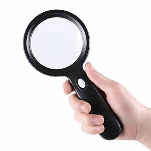 Vergrößerungsglas 10 Mal Lupe Lampe Kinder Lesen HD Handy Wartung Lupe Optisches Glas
