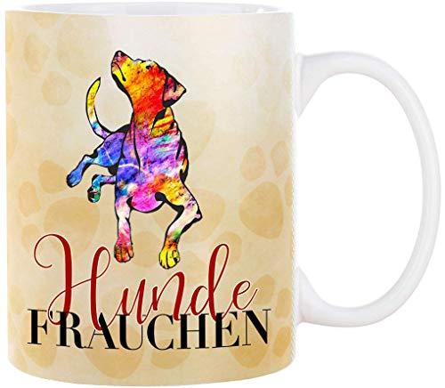 Cadouri Hunde Tasse HUNDEFRAUCHEN (Motiv 3) Kaffeetasse Bürotasse - 300 ml