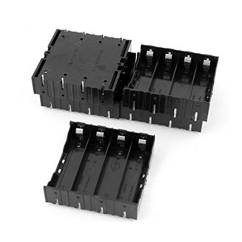 Batterie Halter fuer 4 x 3.7V 18650 Batterie - SODIAL(R)5 Stk. Li-Ionen Akku DIY Plastik Halter fuer 4x3.7V 18650 Batterie