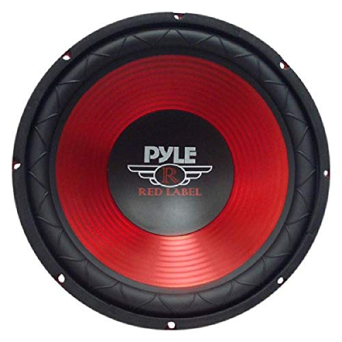 Price comparison product image Car Vehicle Subwoofer Audio Speaker - 10 Inch Red Electro-Plated Cone,  Red Steel Basket,  1.5 Kapton Voice Coil,  4 Ohm Impedance,  600 Watt Power,  for Vehicle Stereo Sound System - Pyle PLW10RD