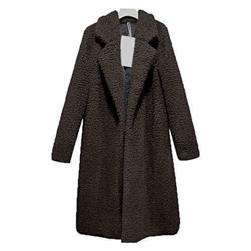 ZKYOP Mantel Damen Blend Coat Langer Mantel Damen Herbst Winter Coat Oberbekleidung Plus Size Cardigan Coat TurnFrühling und Herbst