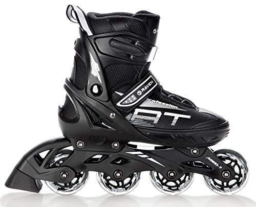 RAVEN Inline Skates Inliner Profession verstellbar (Black, 38-42(25cm-27,5cm))
