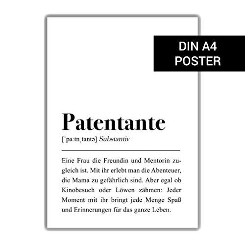 Patentante Definition DIN A4 Plakat