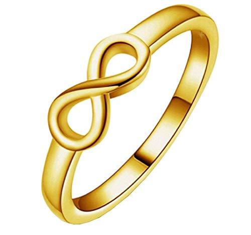 Legisdream Anillo Infinito símbolo creador espiritualidad Oro Color Medida - Talla es 13 -